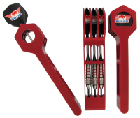 Bull's Dart Quiver Aluminium Color - Red
