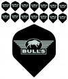 Bull's One Colour Powerflite - Solid Bull's Logo (Silver) 5PACK