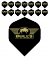 Bull's One Colour Powerflite - Solid Bull's Logo (Gold) 5PACK